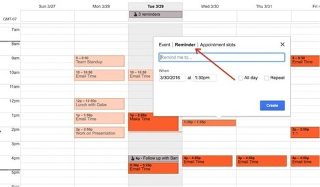 Google Finally Launching Reminders For Calendar On The Web | Google Apps for Education & Chromebooks | Scoop.it