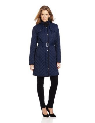 Cole Haan Women's Signature Belted Quilt Jacket, Cobalt, X-Small | Big Deals Fashion Today | Scoop.it