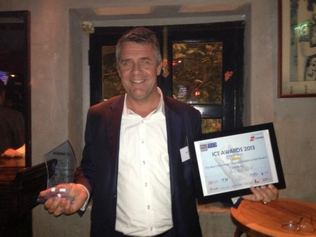 "SIGFOX, winner of the France - Singapore ICT Awards 2013 in the category ""Most Innovative Telecom Solution"" 