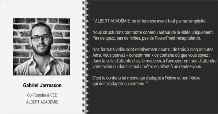 Interview Gabriel Jarrosson, ALBERT ACADÉMIE | MOOC Francophone | Scoop.it