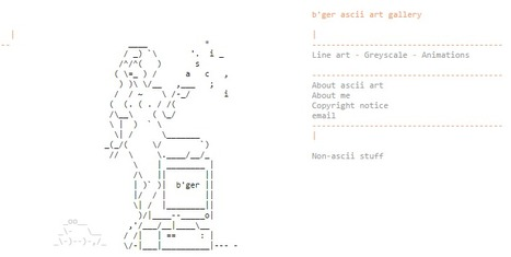 ascii art by b'ger | ASCII Art | Scoop.it