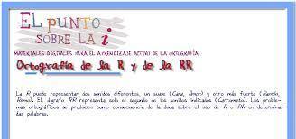 Ortografía de la R y la RR | ORTOGRAFÍA  R -RR | Scoop.it