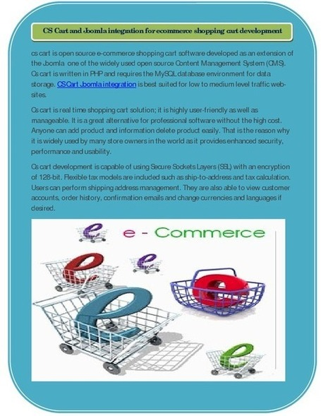 CS Cart and Joomla integration for ecommerce shopping cart ... | CS Cart Developer-Your Online Business on the Way of opportunity | Scoop.it