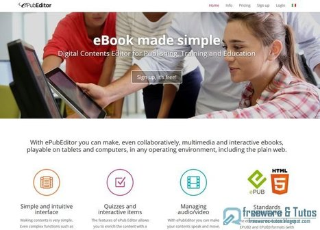 ePubEditor : un très bon service web pour créer des ebooks interactifs | Time to Learn | Scoop.it