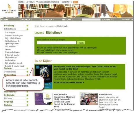Waarom een submenu op een overzichtspagina van je website slecht is | Social Media & sociaal-cultureel werk | Scoop.it
