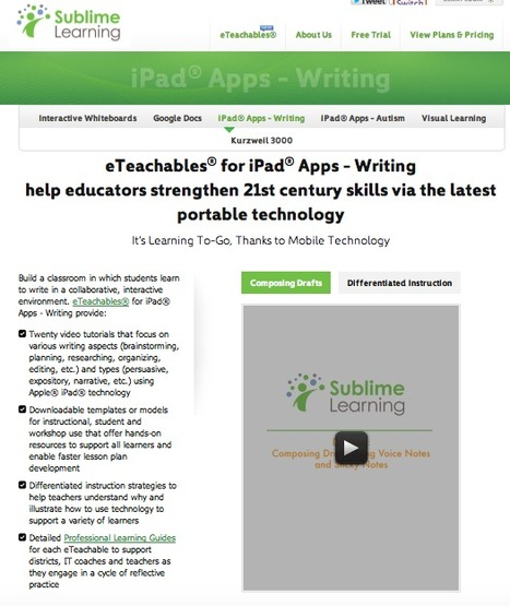 Sublime Learning® - iPad® Apps - Writing | iPad Adoption | Scoop.it