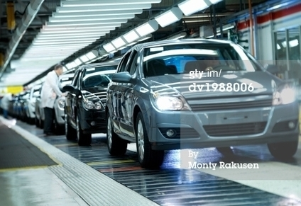 Completed Cars On A Factory Assembly Line Royalty-free Image | Getty Images | dv1988006 | Producción Ford | Scoop.it