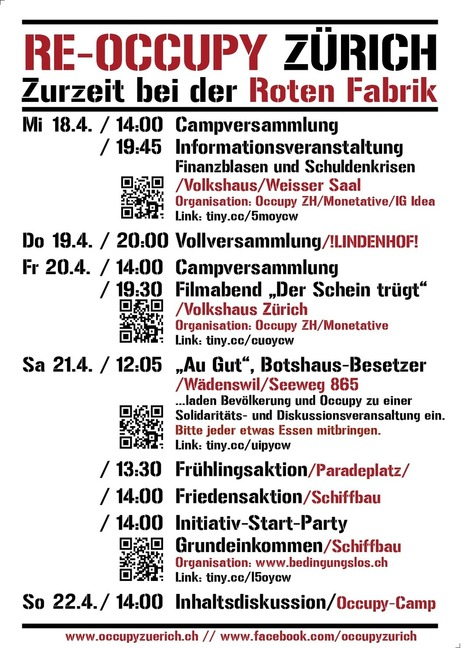 Wochenprogramm Woche 5 – Version 2 | Occupy Zürich | Occupy Zürich | Scoop.it