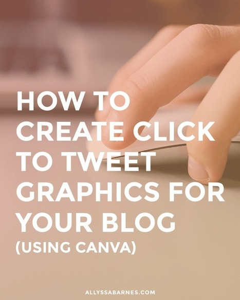How to Create Click to Tweet Graphics for Your Blog | My Blog 2016 | Scoop.it