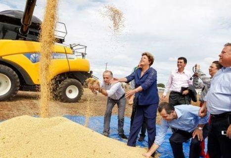 Dilma dirige trator e colheitadeira em Lucas do Rio Verde | Lucas do Rio Verde | Scoop.it