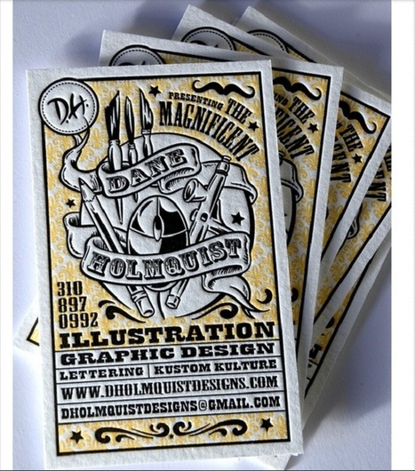 27 Inspiring Examples of Letterpress Business Cards | MarketingHits | Scoop.it