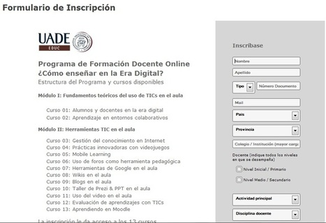 13 cursos gratuitos sobre TIC en la educación | Pédagogie et web 2.0 | Scoop.it
