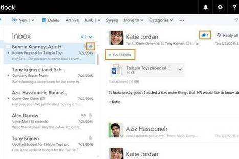 Do You Like That Email? Microsoft Will Let You 'Like' It - Wall Street Journal (blog) | email | Scoop.it