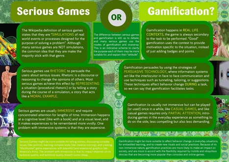 The Difference Between Games, Gamification and Serious Games ~ Educational Technology and Mobile Learning | ADP Center for Teacher Preparation & Learning Technologies | Scoop.it