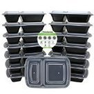 #8: Freshware 15-Pack 2 Compartment Bento Lunch Boxes with Lids - Stackable, Reusable, Microwave, Dishwasher & Freezer Safe - Meal Prep, Portion Control, 21 Day Fix & Food Storage Container... | Best Refrigerators | Scoop.it