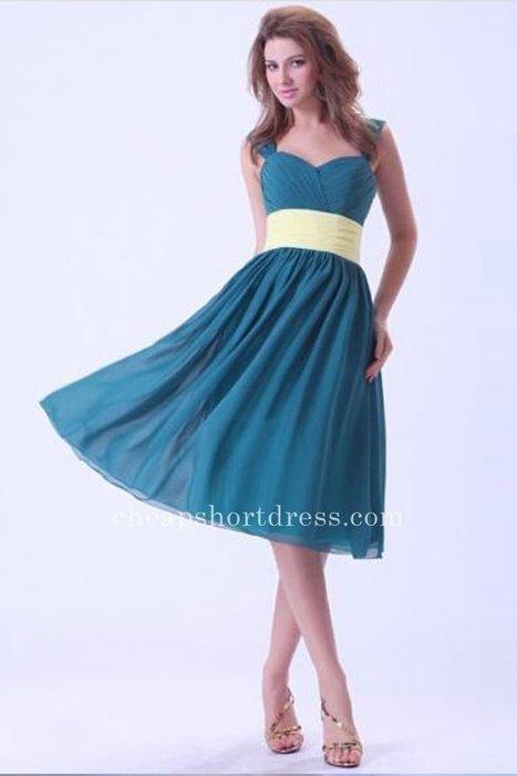 Beautiful Ocean Blue Chiffon Bridesmaid Dresses [Short Bridesmaid Dresses] - $107.00 : Short dresses | Homecoming Dresses | Short Bridesmaid Dresses | Cocktail Dresses | Prom & Homecoming Dresses | Scoop.it