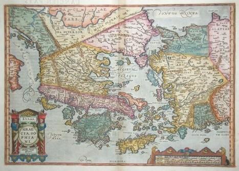 Ο χάρτης της Ελλάδας το 1598   Informatics Technology in Education   Scoop.it