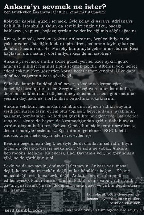 Ankara'yı sevmek ne ister? | Ankara Fenomenleri | Scoop.it