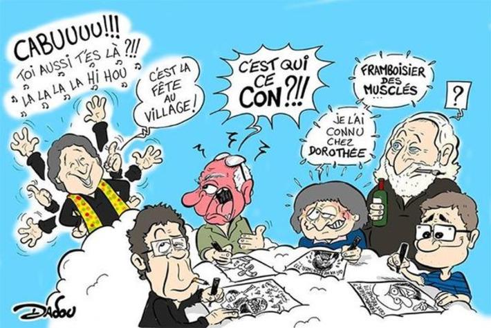 Conférence de rédaction de Charlie Hebdo depuis là haut | Baie d'humour | Scoop.it