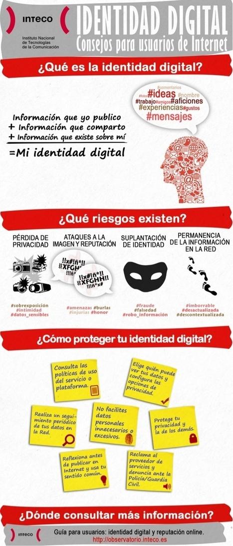 Identidad digital: consejos para usuarios de Internet #infografia #infographic | Recursos per a l'aula 2.0 | Scoop.it