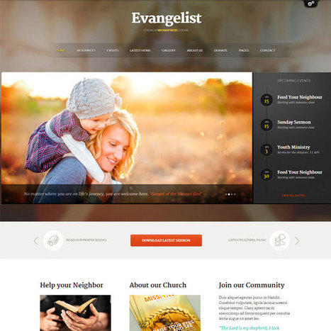 Evangelist WordPress Theme | WordPress Theme Download | helping others | Scoop.it