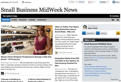 Oct 3 - Small Business MidWeek News is out | Business Updates | Scoop.it