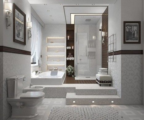 16 Bathroom Suites with Jaw-Dropping Effect | Founterior | Home Essentials | Scoop.it