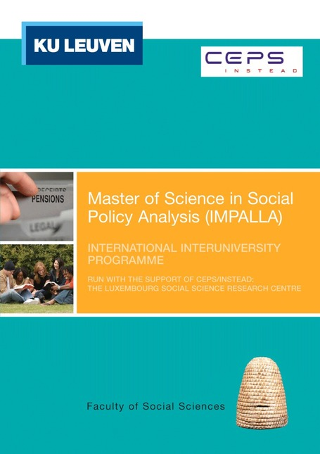 International Master of Science in Social Policy Analysis - IMPALLA | academic hipster | Scoop.it