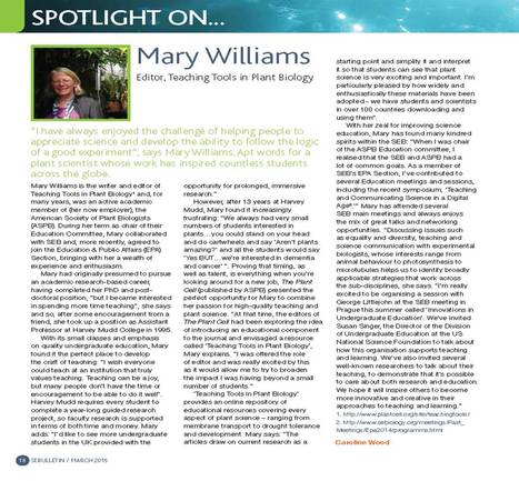 Profile in SEB Bulletin | Plant Biology Teaching Resources (Higher Education) | Scoop.it