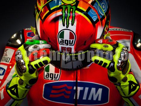 Andrew Wheeler VR46 #58 HELMET LIMITED EDITION CANVAS PRINT 2011   Ductalk Ducati News   Scoop.it