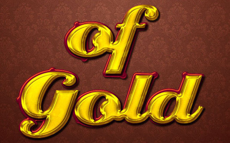 Stylish Gold Text Effect | textuts | Photoshop Text Effects Journal | Scoop.it