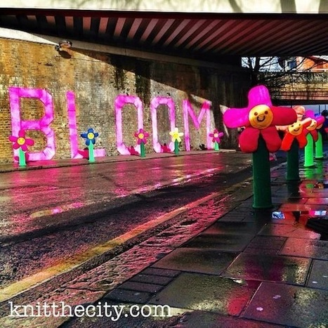 Colorful Knitted Graffiti Art Brightens Up London Streets - DesignTAXI.com | Yarn Bombing | Scoop.it