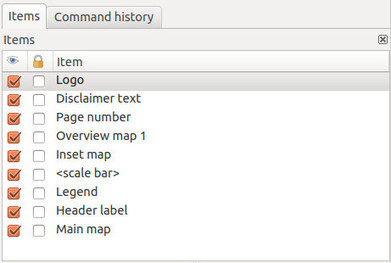 Exploring QGIS 2.6 – Item panel for map composer | Materiais didáticos: QGIS | Scoop.it