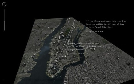 Invisible Cities [Processing] - Mapping information from social networks to immersive 3D space/ Project by @cms_ + @liangjiexia | Connecting Cities | Scoop.it
