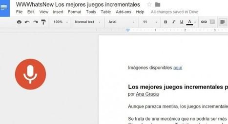 Google Docs ya nos permite escribir, editar y dar formato usando la voz | Avances TIC. Didáctica | Scoop.it