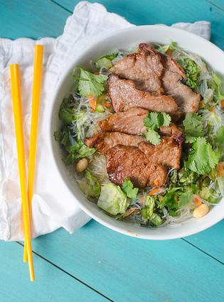 #HealthyRecipe // Vietnamese-Style Pork and Rice Noodle Salad | lovemefood | Scoop.it