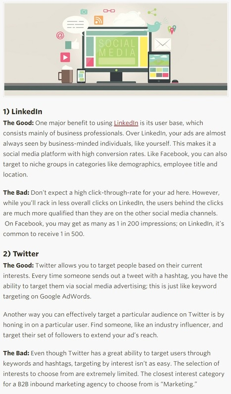 Which Social Network Should You Advertise On? - HubSpot | Online Lead Generation Marketing | Scoop.it