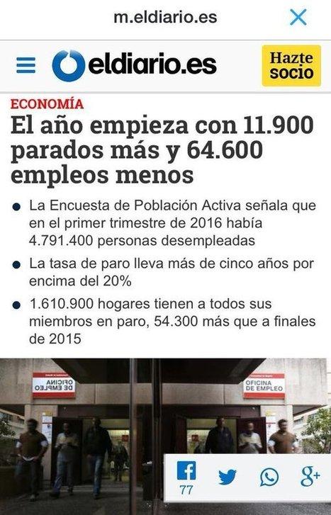 CNA: La Herencia que deja Rajoy... Mil Veces peor que la que dejó ZP... y eso que la economía era lo suyo | La R-Evolución de ARMAK | Scoop.it
