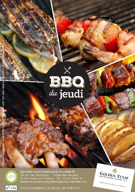 """Les BBQ du jeudi au Golden Tulip   Office de Tourisme """"Roissy, Clé de France""""   Scoop.it"""