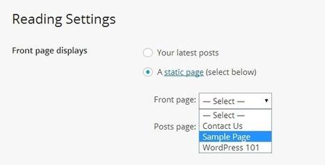 How to Use Static Page as Homepage in WordPress - WPSpeak.com | WordPress Tip and Tutorials | Scoop.it