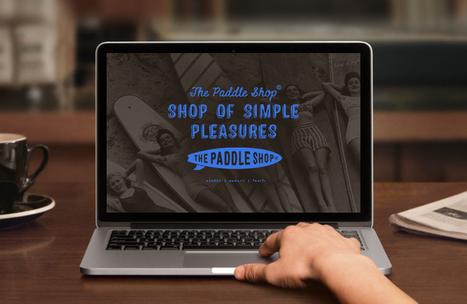 """Création de marque, logo, identité, The paddle Shop - BLUE N°1310, Annecy, Haute-Savoie   Blue1310 """"little big agency"""" création de marque,branding, identité visuelle, communication globale   Scoop.it"""