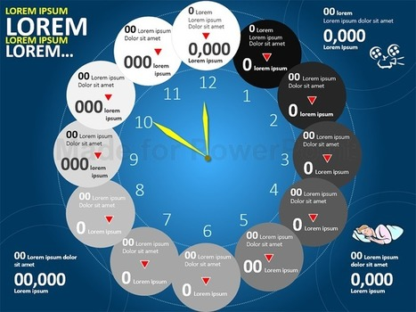 Time Infographic - PowerPoint Template | PowerPoint Presentation Tools and Resources | Scoop.it