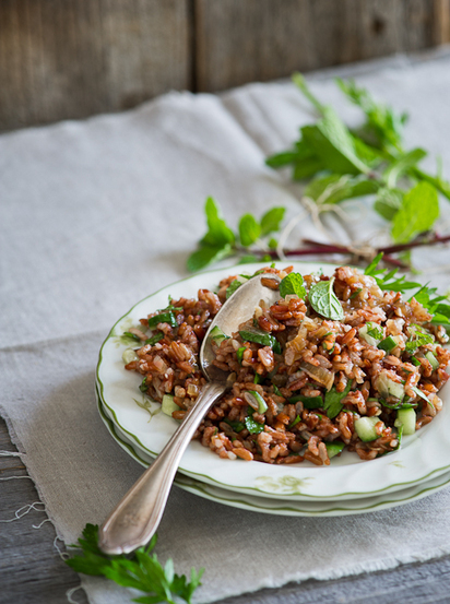 #HealthyRecipe - Red Rice Salad w/ Mint and Shallot Vinaigrette | Healthy Recipes and Tips for Healthy Living | Scoop.it