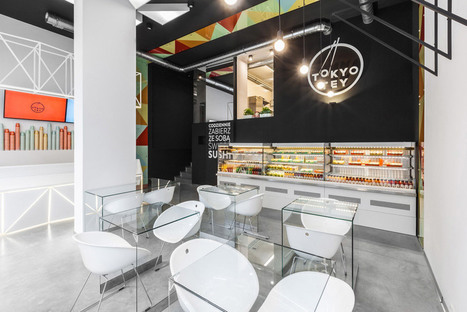 This Sushi Bar's Color Scheme Is White Rice, Black Nori Paper, and Wasabi | studioaflo | Scoop.it