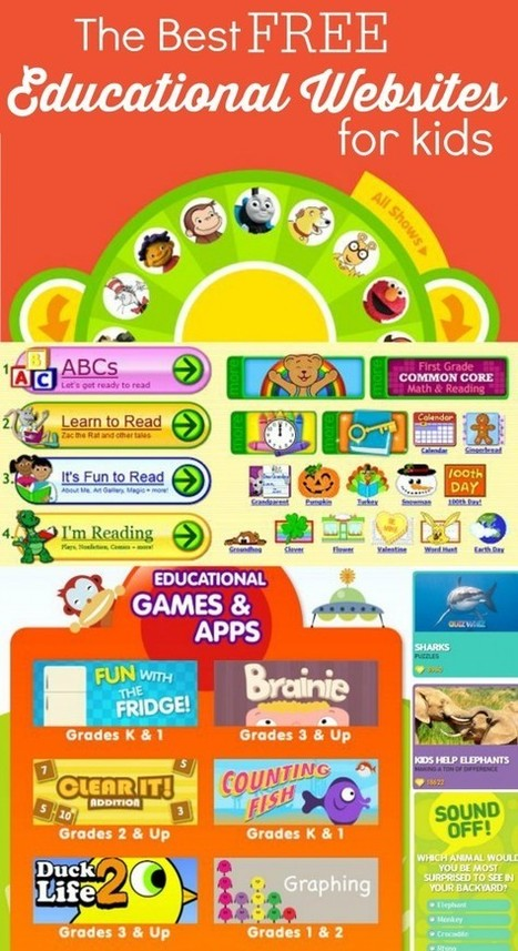 The Best Free Educational Websites for Kids Infographic - e-Learning Infographics | TEFL & Ed Tech | Scoop.it