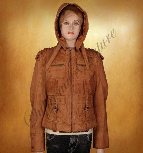 Make a style statement with Chaste Hooded Milky Chocolate Jacket | WOMEN JACKETS | Scoop.it