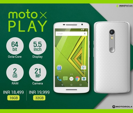 Motorola Moto X PLAY launched in India starting at Rs. 18,499 | Maxabout Mobiles | Scoop.it
