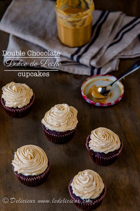 Double Chocolate Dulce De Leche Cupcakes   Baking Recipes   Scoop.it