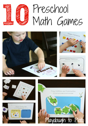 The Preschool Math Mega Pack: 10 Printable Games - Playdough To Plato   Εδώ Νηπιαγωγείο   Scoop.it