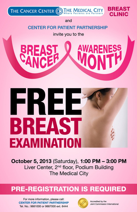 The Medical City | Breast Cancer Awareness Month : FREE breast examination | Medical City | Scoop.it